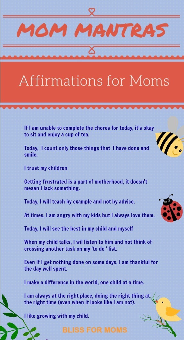 Affirmations for Moms free printable